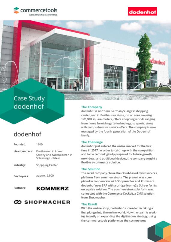 commercetools Case Study Dodenhof