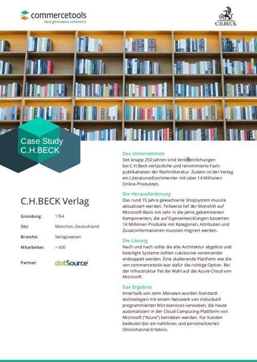 commercetools Case Study C.H.Beck