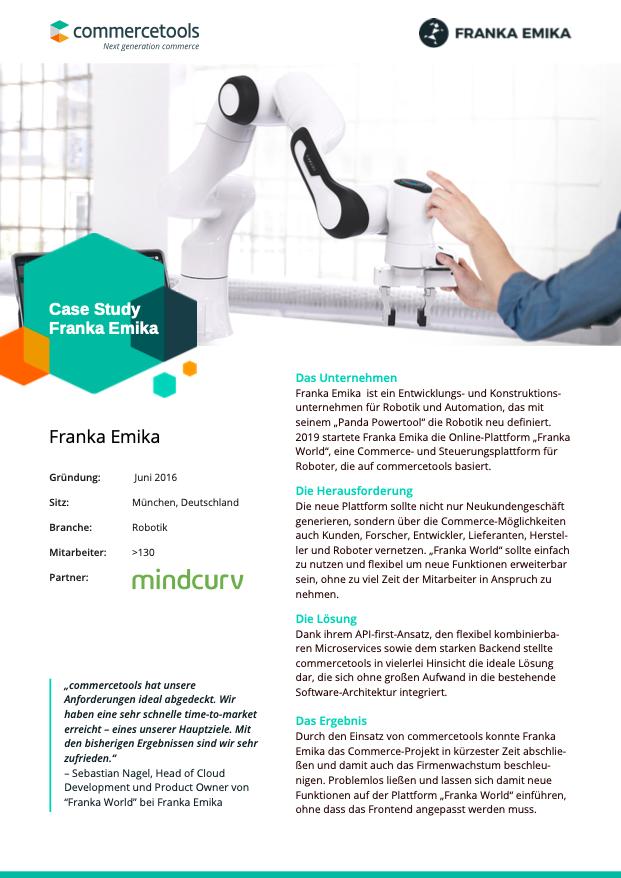 commercetools Case Study Franka Emika DE