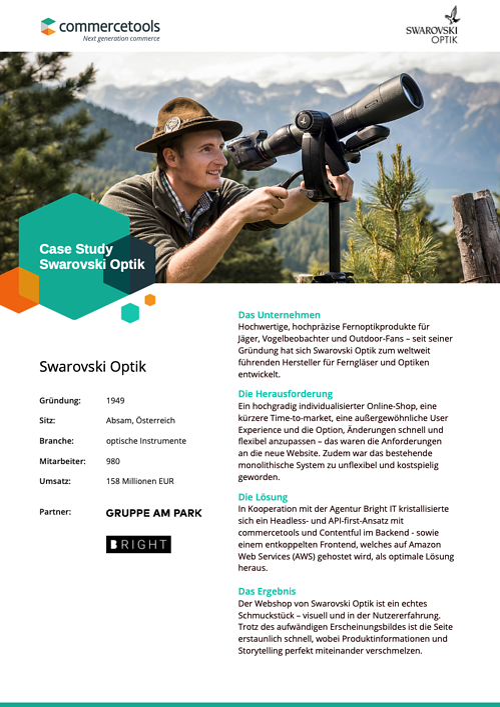 commercetools Case Study Swarovski Optik