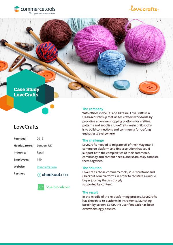 commercetools Case Study LoveCrafts