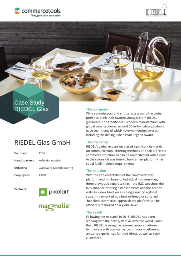 Case Study Riedel