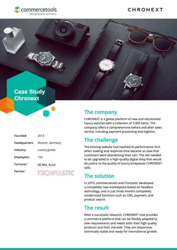 commercetools Case Study CHRONEXT