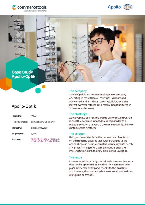 commercetools Case Study Apollo Optik EN