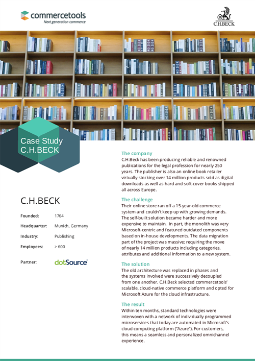 commercetools Case Study C.H. Beck