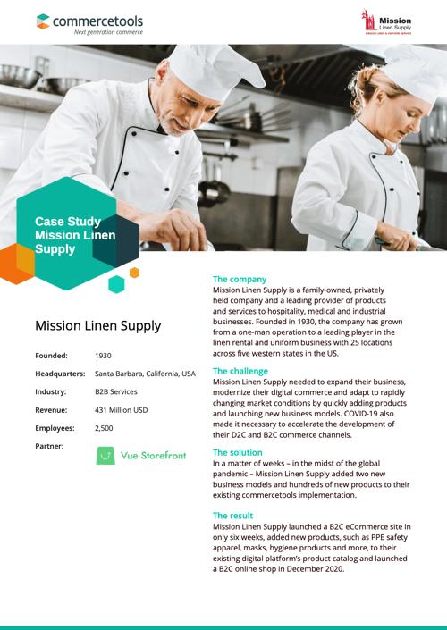 commercetools Case Study Mission Linen