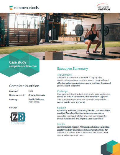 commercetools Complete Nutrition Case Study