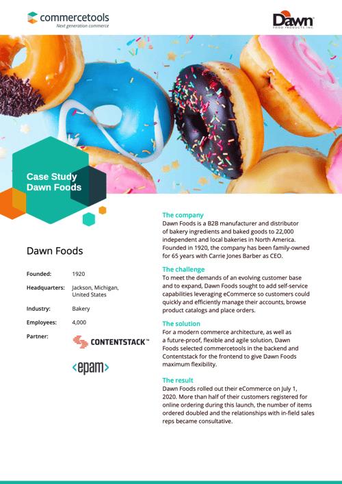 commercetools Case Study Dawn Foods
