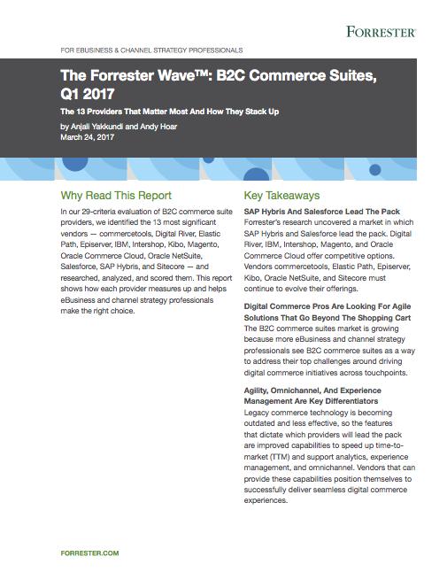 commercetools Forrester Wave Report
