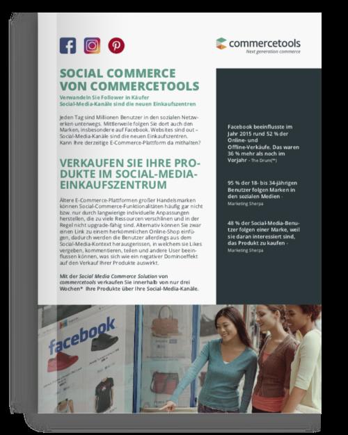 commercetools Social Commerce Lösung